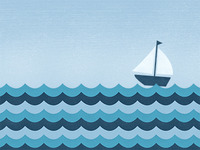 Ocean Waves Illustration: Final Cropped
