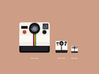 Flat Polaroid/photo icon