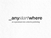 Start Anywhere Logoface Idea