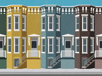 Rowhouses on Newton Street