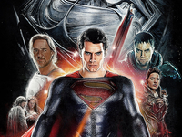 MAN OF STEEL - Final Illustrated Poster