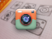 Following a trend - Retro camera iOS Icon