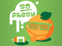 7-11 Fresh Foods Crew (Orange)