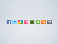 Bright Social Media Icon Set (32px)