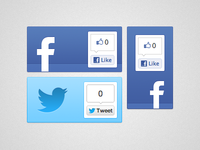 Facebook & Twitter Share Button Surround