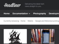 Headliner WordPress Theme Sneak Peak