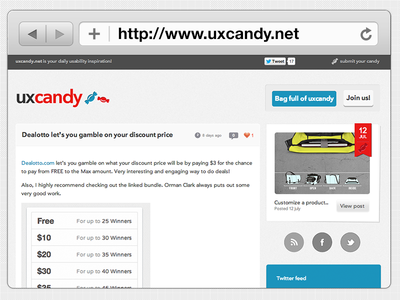 UX Candy, UX Inspiration