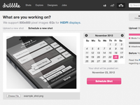 Schedule Shot on Dribbble