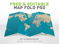 Free Editable Map Fold [PSD]