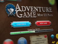 Adventure Game Mini RPG UI Pack [Free PSD]
