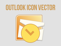 Free Outlook Icon Vector [PSD]