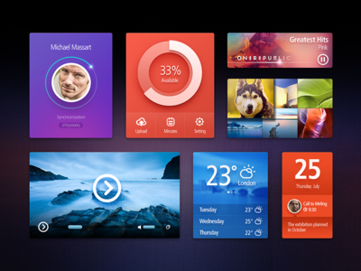 Download UI Kit Free PSD