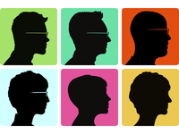 Friend Silhouette Portraits