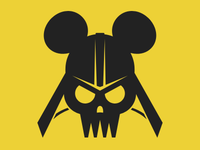 Darth Vader Skull Pirate Mickey Mouse