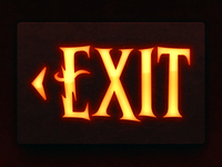 Harry Potter and the Forbidden Journey Exit Sign