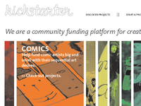 Kickstarter Rebranding Website Design