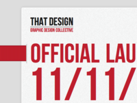 That Design Launch Page