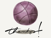 Dribbble thanks!