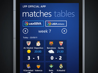 Windows Phone App - Spanish Football League