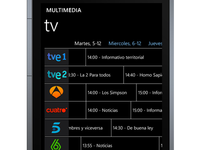 Tv Programmes on Windows Phone - WIP