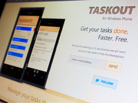 Taskout App Website Tilted