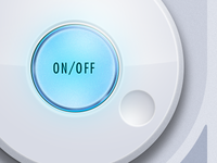 Illuminated on/off button