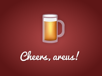 First Dribbble Shot - Cheers to @areus!