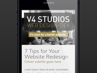 New V4 Website Mobile (Responsive)