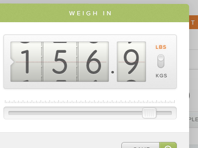 Weigh-in-modal