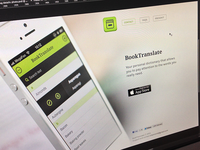 BookTranslate landing page