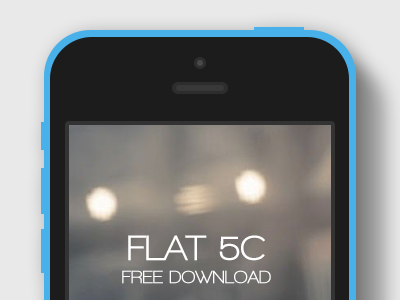 Download Flat iPhone 5C Mockup – All Colors