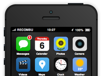 iPhone 5S & iOS 7 concept made from CSS