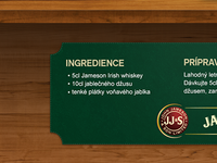 Jameson - ingredients