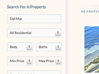 Real Estate Search Form CSS3