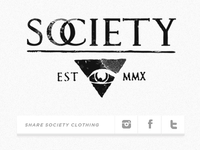 Society Clothing Share Buttons