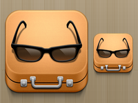 Suitcase And Glasses