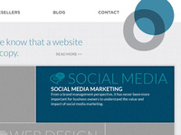Online Marketing Website Concept
