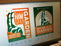 With Him in the Garden Poster