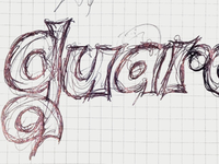 First stage typographic sketch