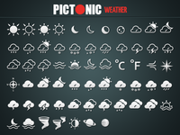 Pictonic - Font Icons: Weather