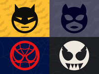 Pictonic - Font Icons: Heroes & Villains (part 1)