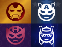 Pictonic - Font Icons: Heroes & Villains (part 2)