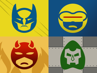 Pictonic - Font Icons: Heroes & Villains (part 3)