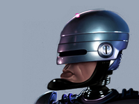 Robocop Caricature Process