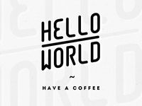 Hello World — Coffee