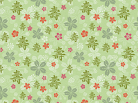 Tealet - tea farm01 seamless pattern