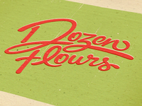 Dozen Flours visual identity option 01