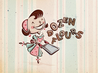 Dozen Flours visual identity option 03