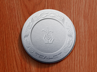 Tealet tea tin lid rendering