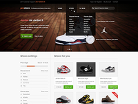 Shoes store website design - finished